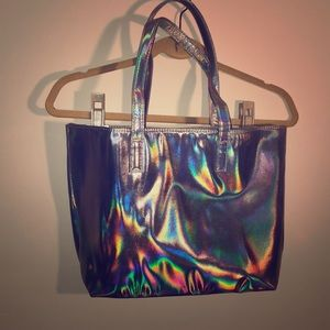 Pearlescent Silver Tote- Never Used